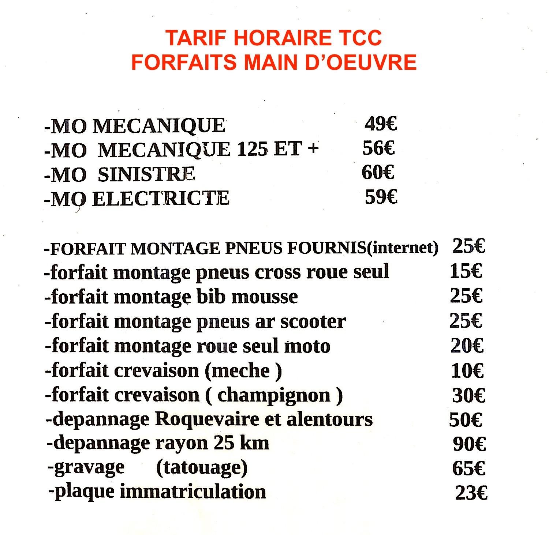 tarif espace moto roquevaire
